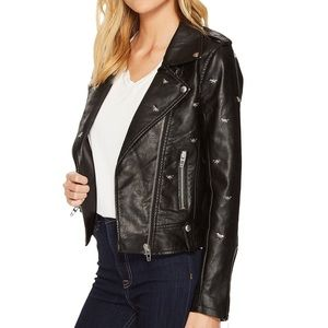 Blank NYC dragonfly black leather jacket XS/Small